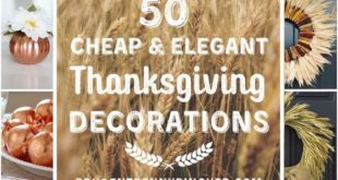 50 Cheap and Elegant Thanksgiving Decorations