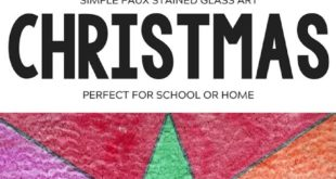 EASY CHRISTMAS CHRISTMAS ART - FAUX STAINED GLASS