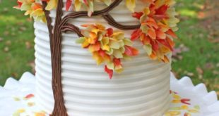 Free 'Autumn Leaves in Chocolate' Cake Tutorial! So pretty!
