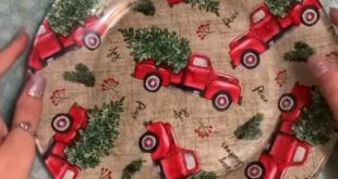 How to Decoupage Christmas Cookie Plates
