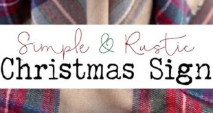 Rustic 'Our Home Believes' Christmas Sign