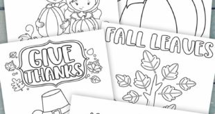 Thanksgiving Coloring Pages for Kids (Free Printable)