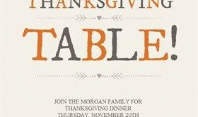 Thanksgiving Table - Thanksgiving Invitation Template (Free