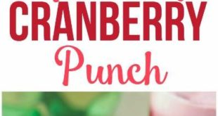 This cranberry raspberry holiday punch recipe looks delicious, a perfect holiday...