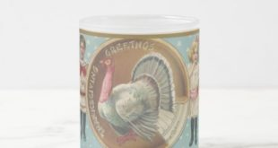 Vintage Thanksgiving Greetings Frosted Glass Coffee Mug | Zazzle.com