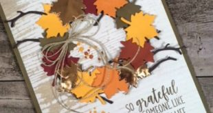 swirly scribbles, seasonal layers, autumn wreath card idea, country home stamp s...